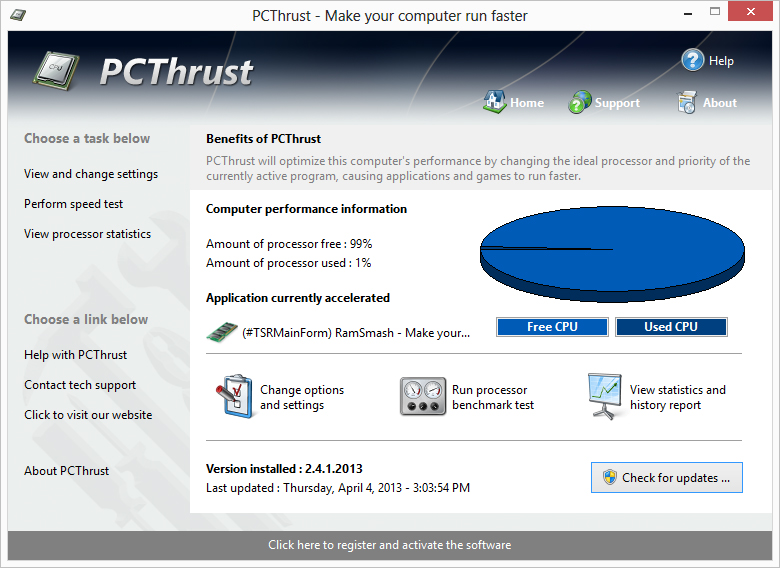 Screenshot for PCThrust 2.3.4.2013